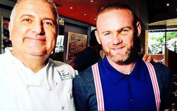 Wayne Rooney at Peacock for first team Luncheon